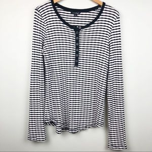 Lucky Brand Striped Long Sleeve Size XL